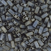 Miyuki Tila Half Cut 5X2.3mm 2Hole Silver Gray Opaque met.matte